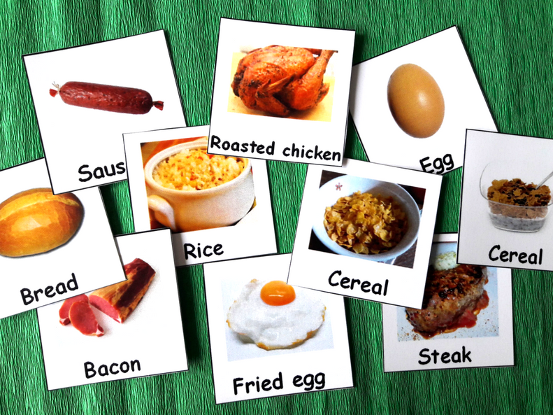 Autism Communication Cards - Food Vocabulary