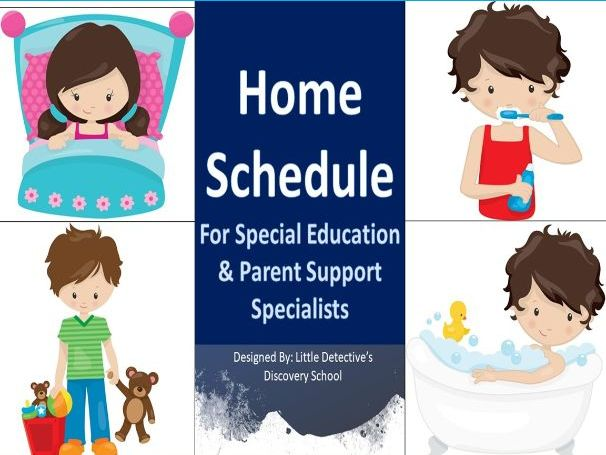 Autism Visual Home Schedule for Parents
