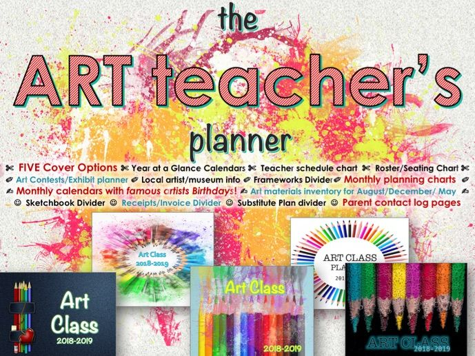 the 2018-19 Art Teacher Planner