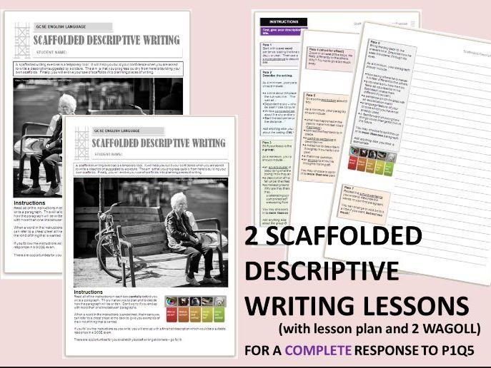 2 GCSE English Language 9-1 Scaffolded Descriptive Writing - Whole Text Exercises