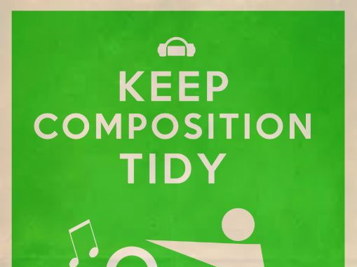Keep composition tidy Retro style poster