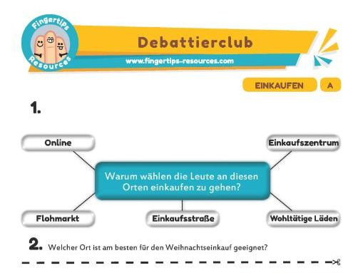 Einkaufen - Debates in German