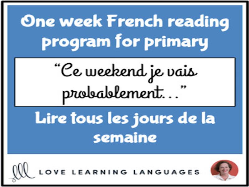 Le paragraphe de la semaine #2 - French primary reading program