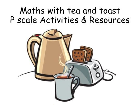 Maths with Tea and Toast SEND activity for pupils working within p levels