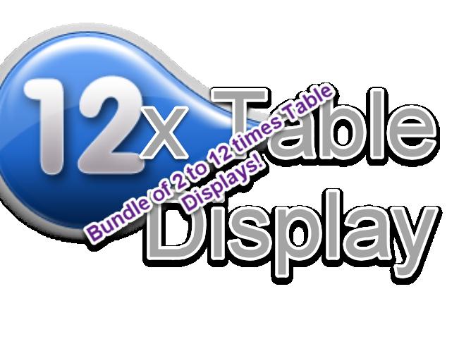 Displays  of x table bundle!