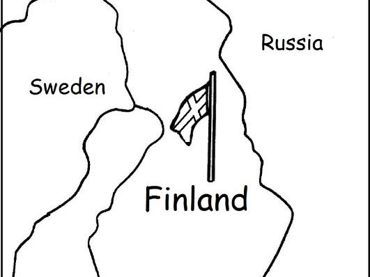 FINLAND - Printable worksheets include a map to color