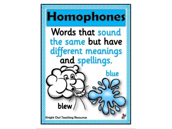 Homophone Poster
