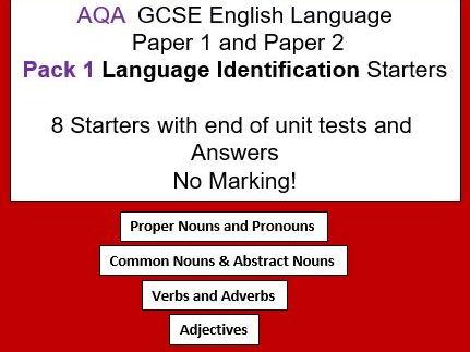 AQA GCSE English Language Paper 1 and 2 Language Identification Starters