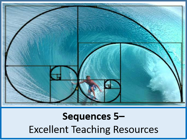 Algebra: Sequences 5 - Fibonacci Sequence, Golden Number, Ratio & Golden Spiral (2 lessons)
