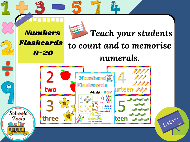 Numbers Flash Cards 0-20