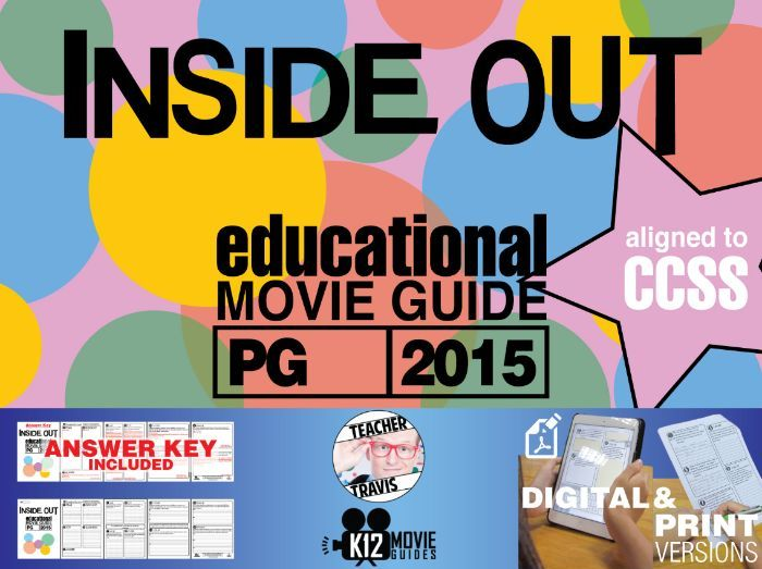 Inside Out Movie Guide Movie Guide | Questions | Worksheet (PG - 2015)