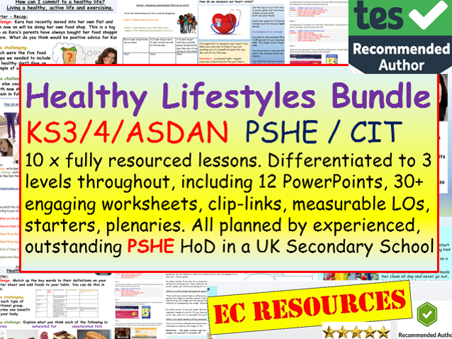 PSHE Healthy Lives