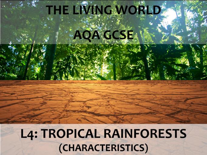 AQA GCSE (2016) - The Living World - L4 Tropical Rainforests (characteristics)
