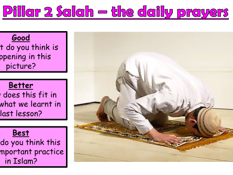 AQA A Islam Practices Lesson 2 - Salah (Lesson 1 of 2 on this pillar)