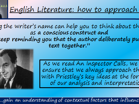 An Inspector Calls Introductory Lesson- Writer's Intentions