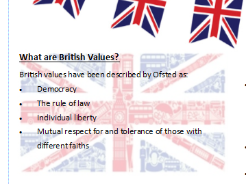British Values in an RE lesson
