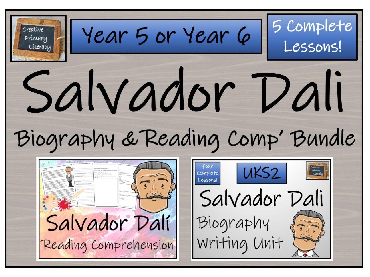 UKS2 Literacy - Salvador Dali Reading Comprehension & Biography Bundle