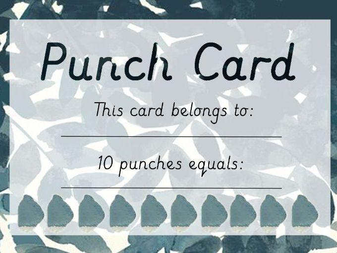 Punch Card - Reward Tracker (Pattern 2)