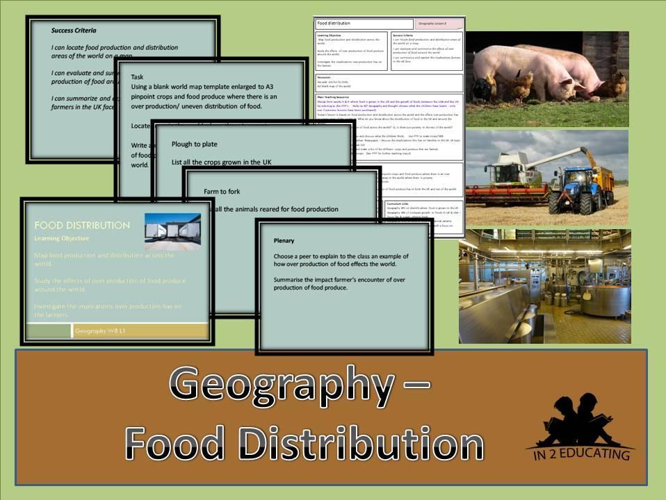 KS2  Geography Food Distribution
