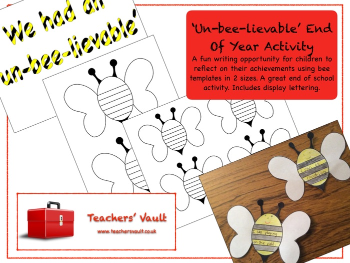 'Un-bee-lievable' End Of Year Activity