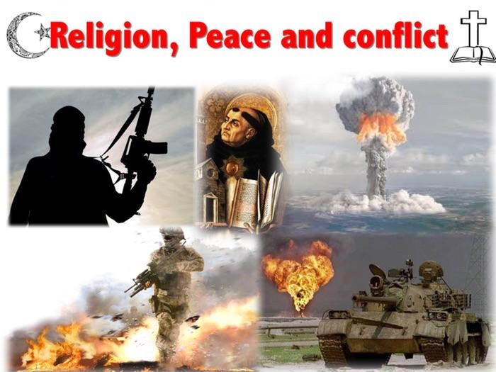 Religion Peace and Conflict- 12 mark exam practice lesson- GCSE AQA-9-1