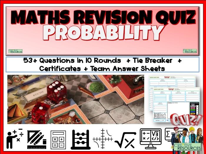 Probability Maths Quiz