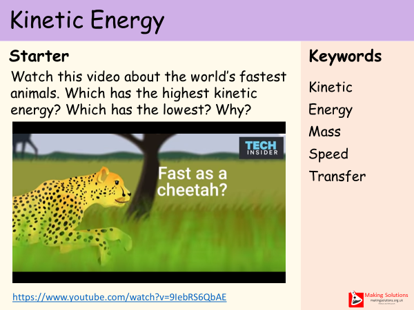 AQA Chapter 1 - Lesson 2 - Kinetic Energy
