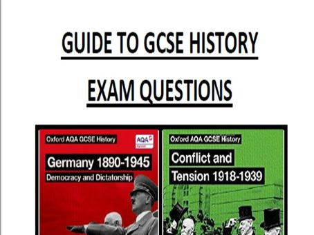 Guide to AQA GCSE history exam questions