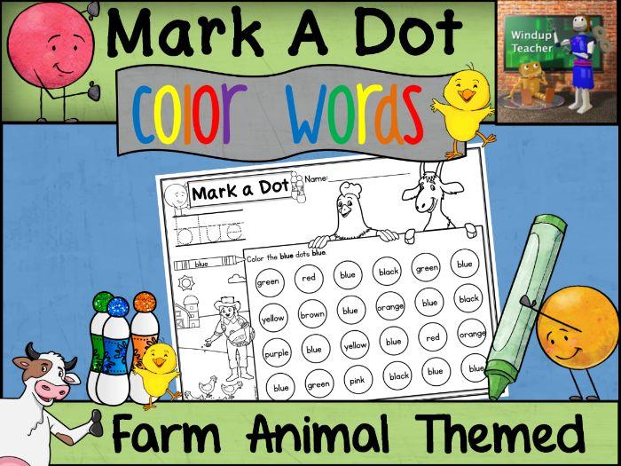 Color Words Dot Dauber Set