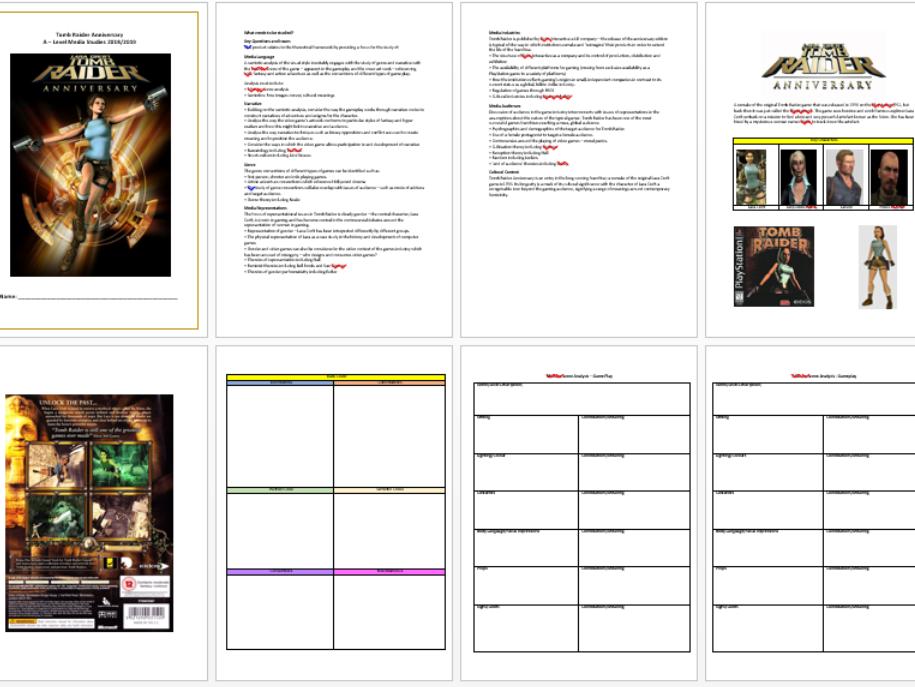 AQA A Level Media Studies - CSP Tomb Raider Anniversary Student workbook/ebook