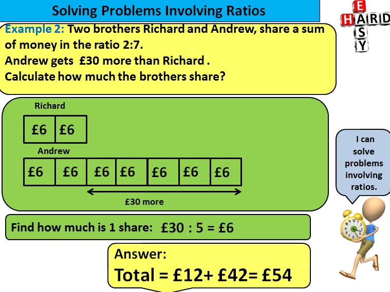 Solving Problems Involving Ratio