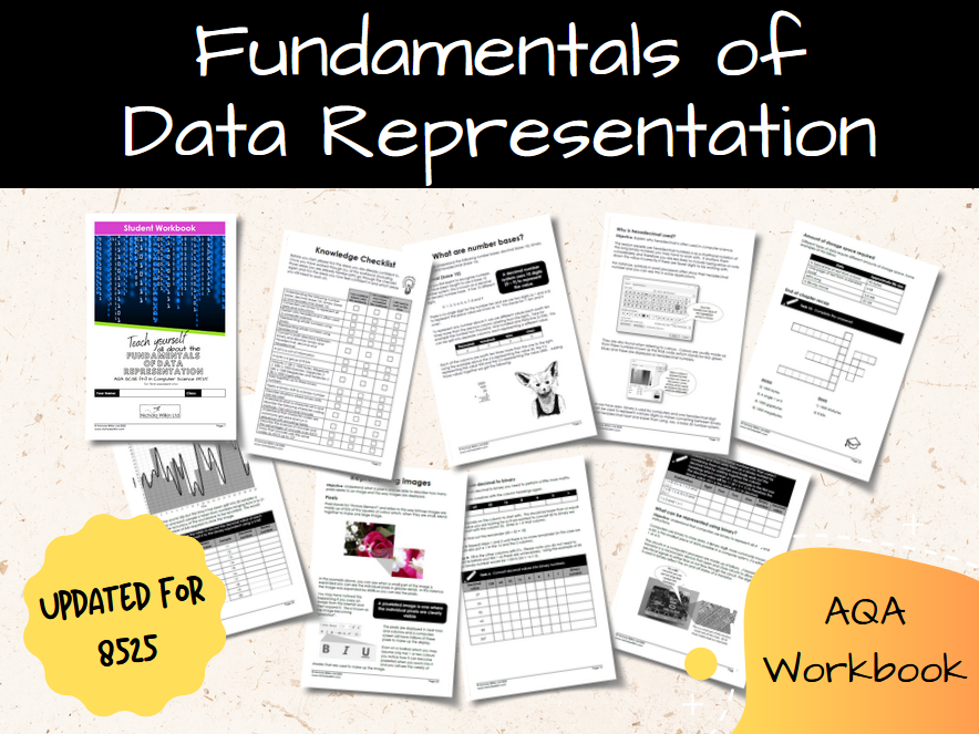 Fundamentals of Data Representation AQA GCSE Computer Science Workbook (8525)