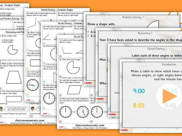 Year 3 Compare Angles Summer Block 3 Step 3 Lesson Pack