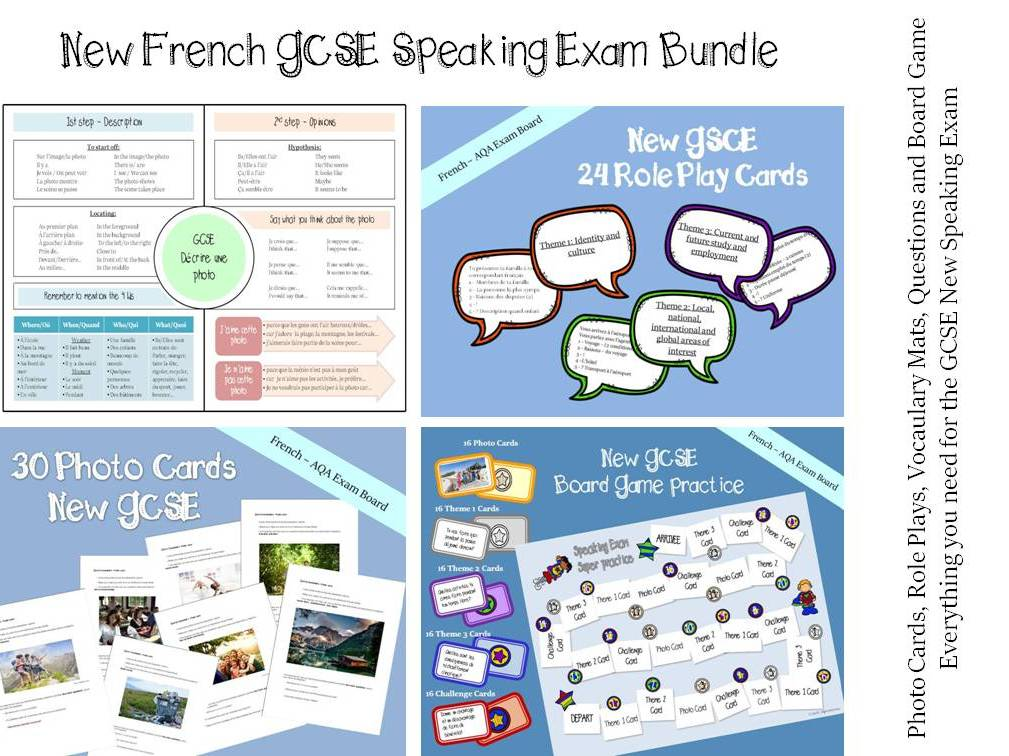 New French GCSE  Speaking - All the resources you need