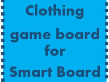 Clothing Game board for Smartboard