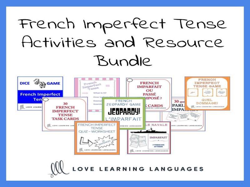 GCSE FRENCH: French imperfect tense bundle - 9 ressources pour enseigner l'imparfait
