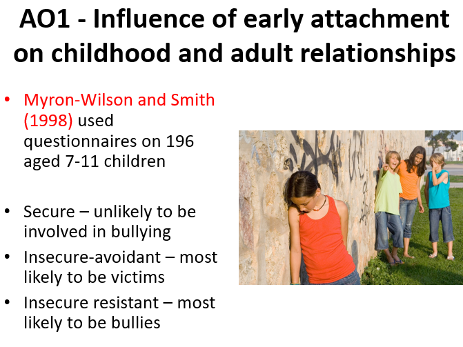 AQA Psychology A Level Attachment: Influence of Early Attachment on Future Relationships