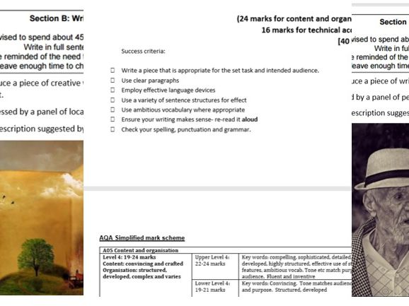 AQA Paper 1, Section B Practice resources