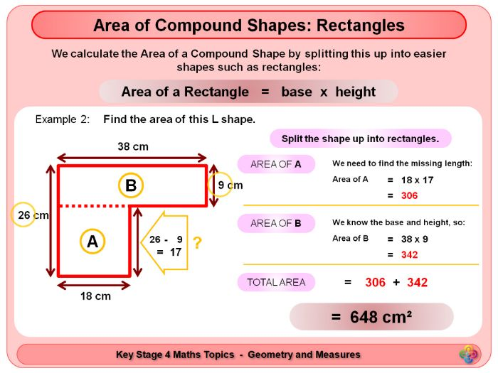 Area of Compound Shapes - Rectangles