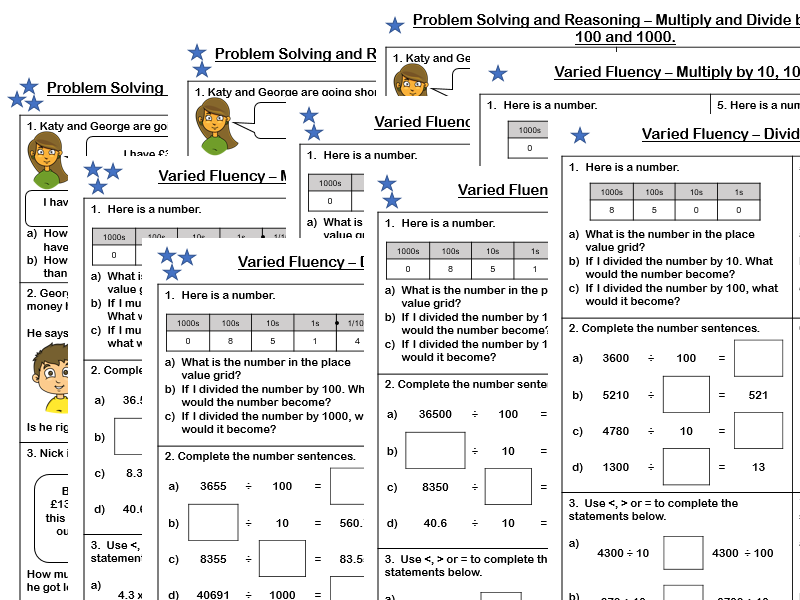 White Rose Maths - Year 5 - Block 4 - Multiplying and Dividing by 10, 100 and 1000 (Problem Solving and Varied Fluency)
