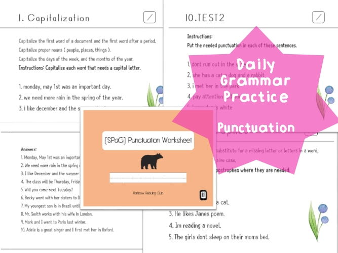 Printables Daily Grammar Practice Worksheets pictures daily grammar practice worksheets kaessey by lastlawn teaching resources