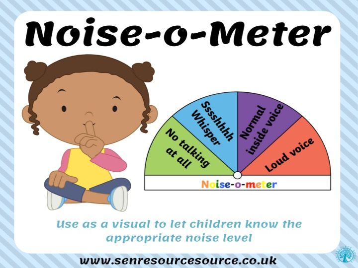 Noise-o-meter classroom display