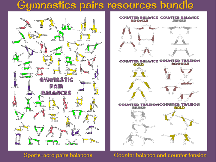 Gymnastics pairs balances bundle (counter tension/balance and sports acro)