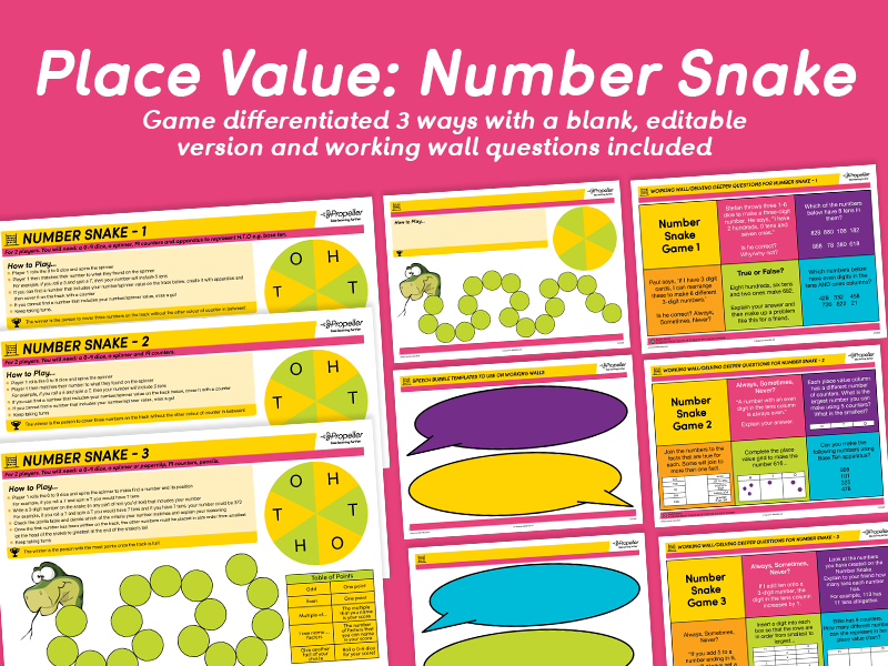 Place Value: Number Snake Game (Differentiated)