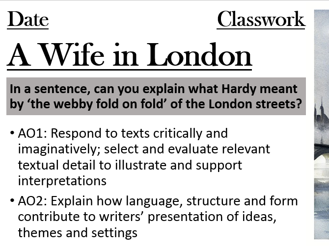 A Wife in London - Analysis
