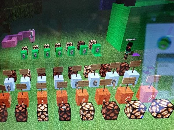 Using Minecraft to display binary ASCii codes