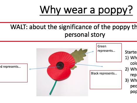 Why do we wear a poppy to remember men like Jack Cornwell?