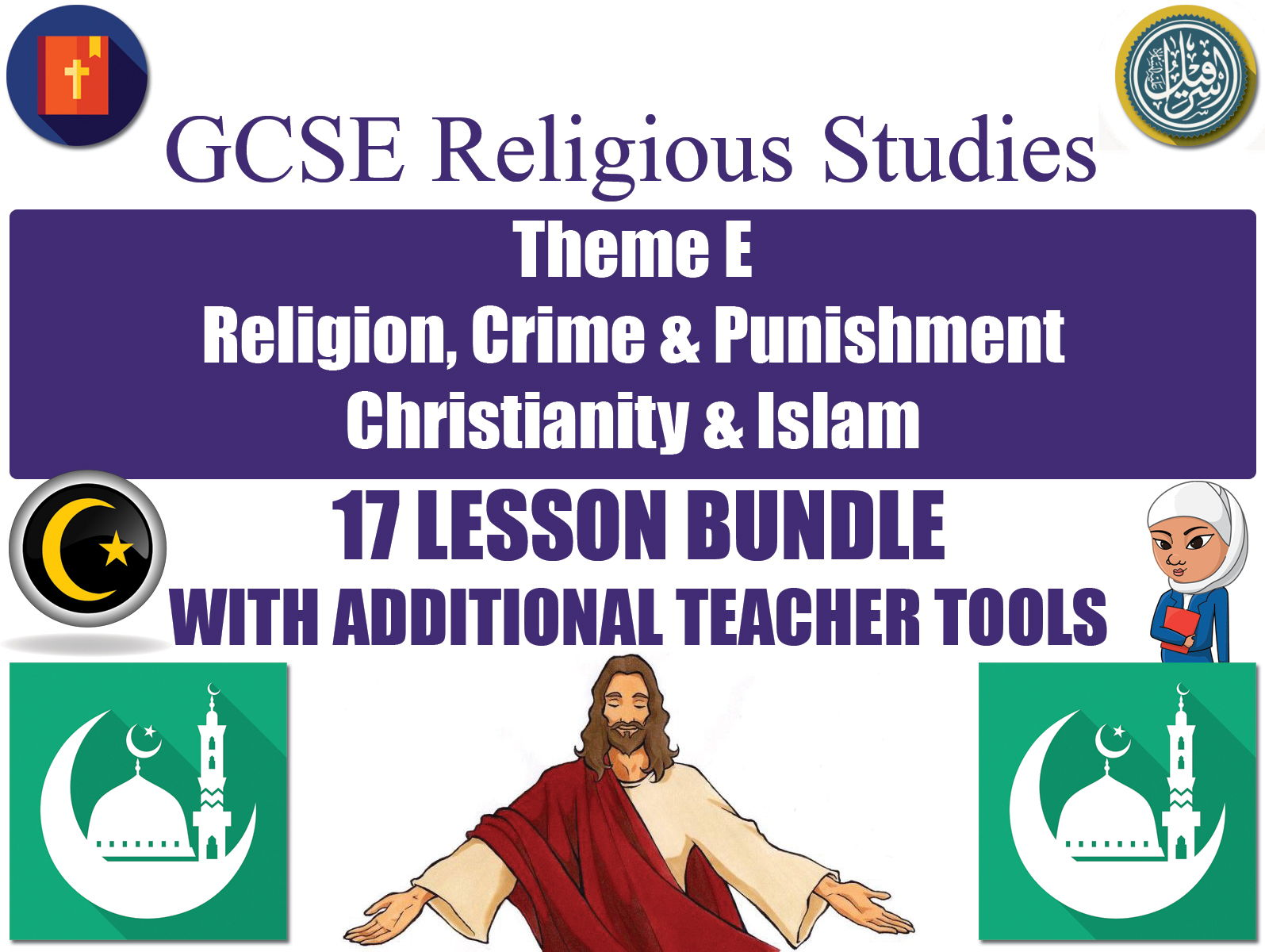 GCSE Islam & Christianity - Religion, Crime & Punishment (17 Lessons)