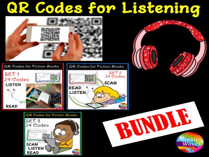 HomeGrade / Year LevelPrimary EducationYear 1QR Codes for Listening Station Centre Activities BUNDLE