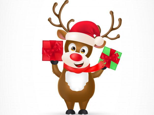 Christmas Reindeer Art